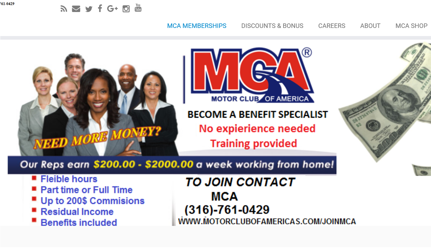 Motor Club Of America Work From Home Scam