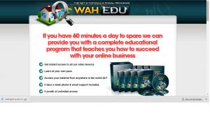 WAH university scam