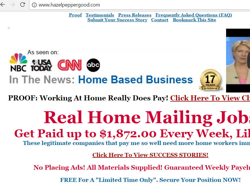 Mailing jobs from home