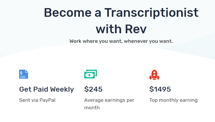 Rev transcription job reviews 2019 | - FINANCIAL INDEPENDENT